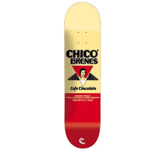 "Chocolate Skateboard Deck - 8"" Brenes (Cafe Chocolate)"