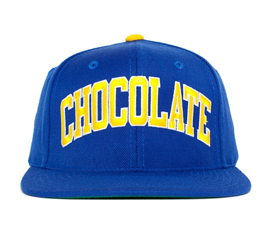 Chocolate By Starter Snapback Cap (Blue/Yellow)
