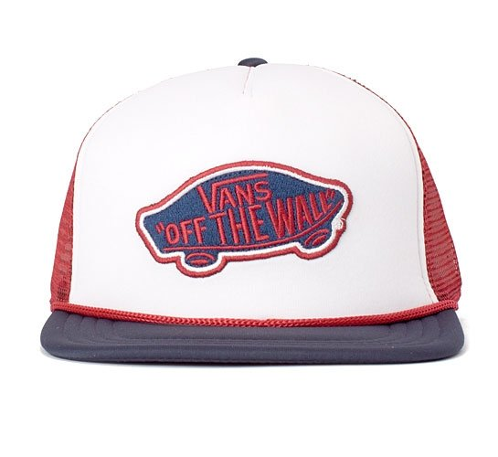 Vans Classic Patch Trucker Cap (Red/White/Blue)