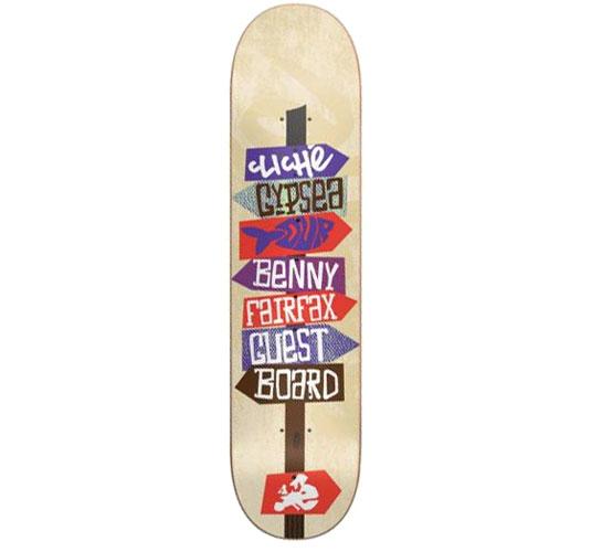 "Cliche Skateboard Deck - 7.6"" Benny Fairfax (Gypsea)"