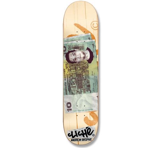 """Cliche Skateboard Deck - 8"""" Brophy (Counterfeit)"""