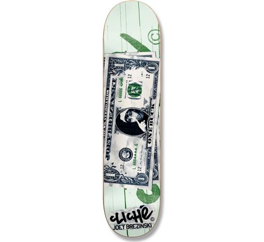 "Cliche Skateboard Deck - 7.9"" Brezinski (Counterfeit)"