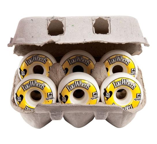 Cliche Skateboard Wheels - 50mm Egg Carton (White)