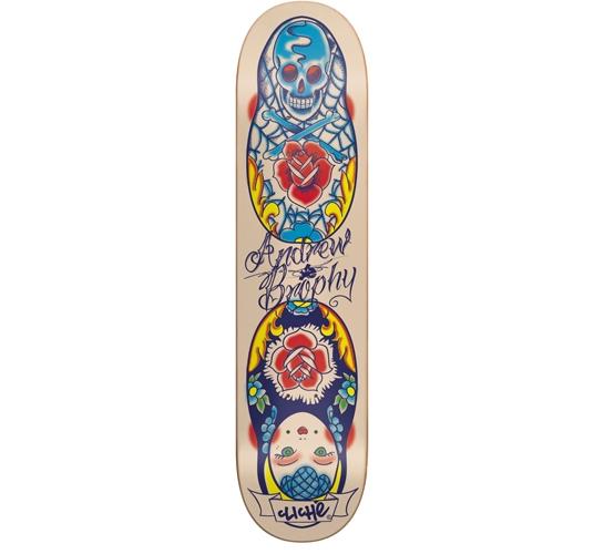 """Cliche Skateboard Deck - 8"""" Brophy (Tattoo)"""