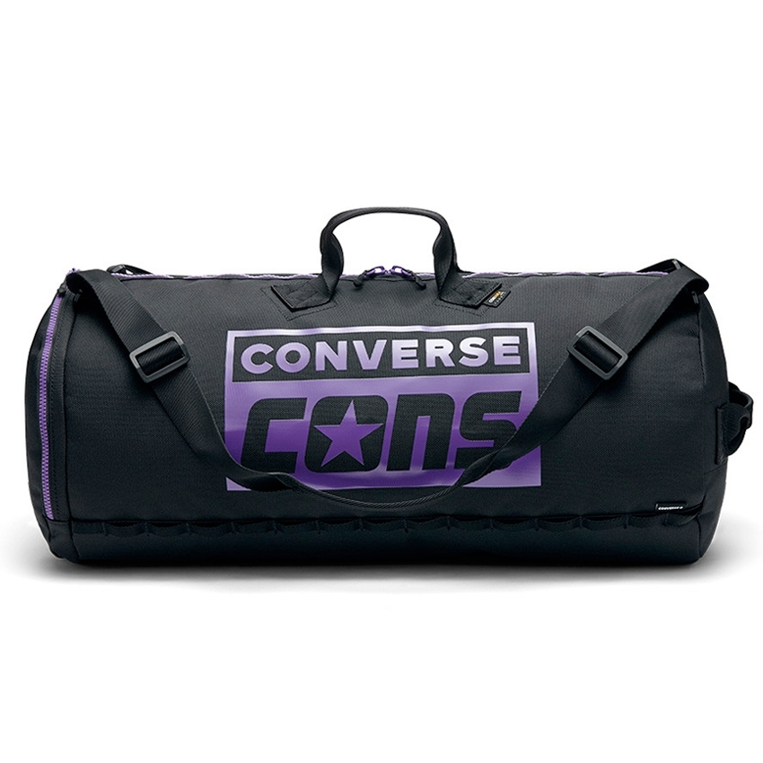 Converse Cons Purple 3 Way Duffel Bag (Black/Purple)