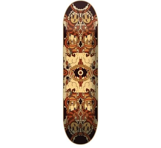 "Crayon Skateboard Deck - 8.125"" Team (Pete Fowler)"