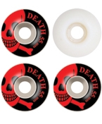 Death Skateboards Wheels - 55mm Red OG Skull (White)