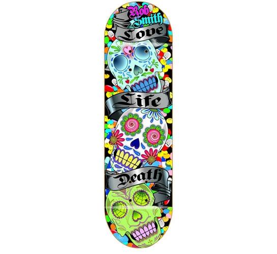 "Death Skateboards Deck - 8 Smith (Sugar Skull)"""