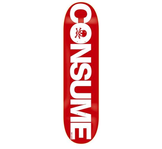 "Death Skateboards Deck - 7.75 Team (Consume)"""