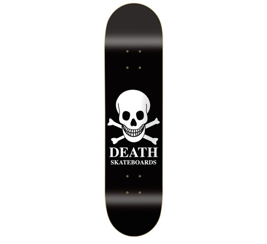 Death Skateboards Deck - 7.75 Team (Black OG Skull)""
