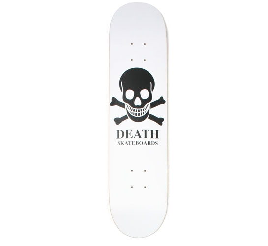 """Death Skateboards Deck - 7.5 Team (White OG Skull)"""""""
