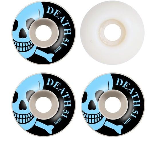 Death Skateboards Wheels - 51mm Blue OG Skull (White)