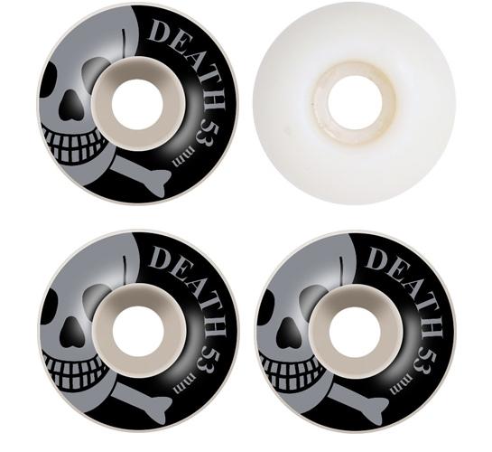 Death Skateboards Wheels - 53mm Silver OG Skull (White)