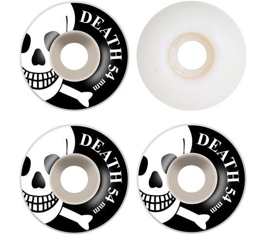 Death Skateboards Wheels - 54mm White OG Skull