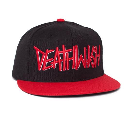 Deathwish Death Spray Snapback Cap (Black/Red)