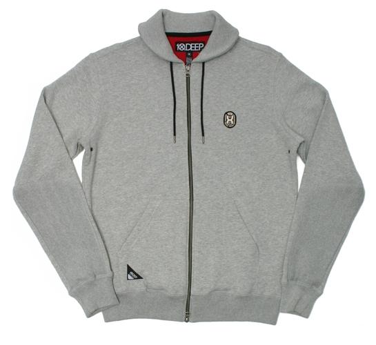 10.Deep Men's Zip Through Sweatshirt - False Zip Shawl