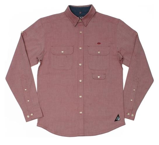10.Deep Men's Shirt - Oxford Convertible (Red)