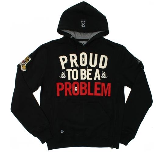 10.Deep Men's Hoodie - Proud Problem (Black)