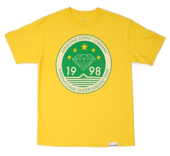 Diamond Supply Co. Men's T-Shirt - 98 Skate (Yellow)
