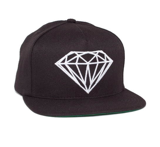 Diamond Supply Co. Brilliant Snapback Cap (Black/White)