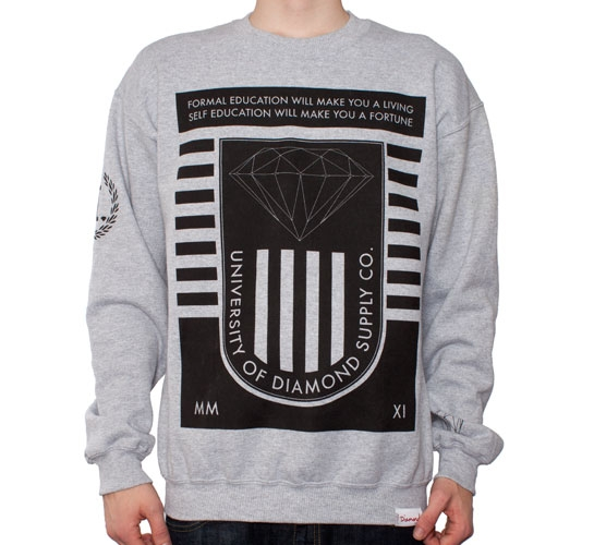 Diamond Supply Co. University 2 Crew Neck Sweatshirt (Heather)