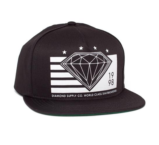 Diamond Supply Co. World Class Snapback Cap (Black/White)