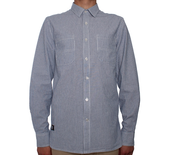 Dickies x Stussy Striped Work Shirt (Blue)