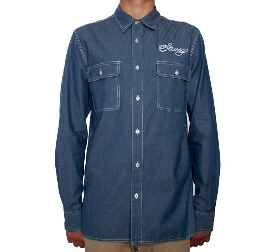 Dickies x Stussy Work Shirt (Blue)