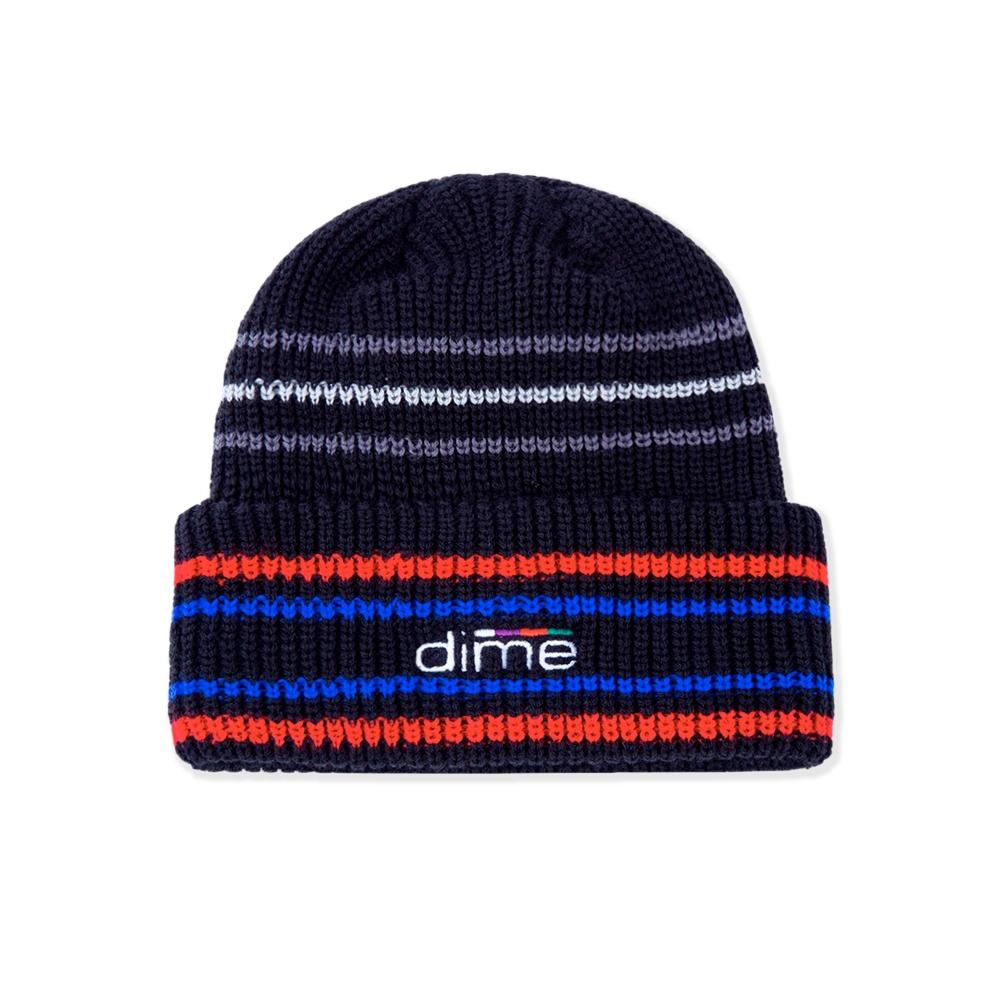 Dime Striped Beanie (Black)