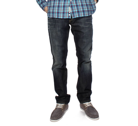 Edwin ED-77 Men's Jeans - Dark Blue Denim (Hagi)