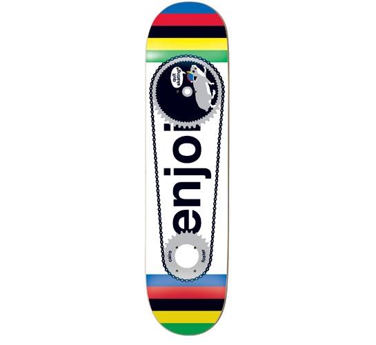 """Enjoi Skateboard Deck - 8"""" Foster (Fixed Gear Hamster)"""