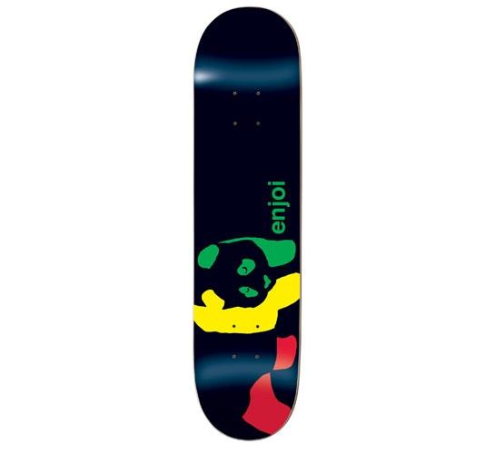 "Enjoi Skateboard Deck - 8.1"" Team (Rasta Panda Wide)"