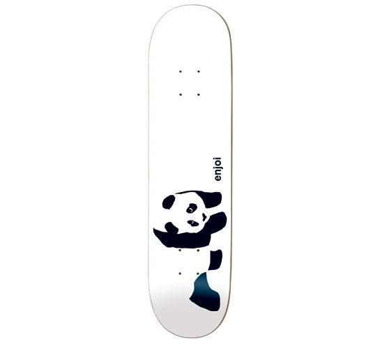 "Enjoi Skateboard Deck - 7.6"" Team (Whitey Panda)"