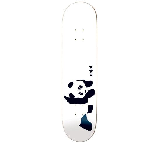 "Enjoi Skateboard Deck - 7.6"" Team (Whitey Panda)"