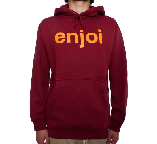 Enjoi Helvetica Pullover Hood (Cardinal)