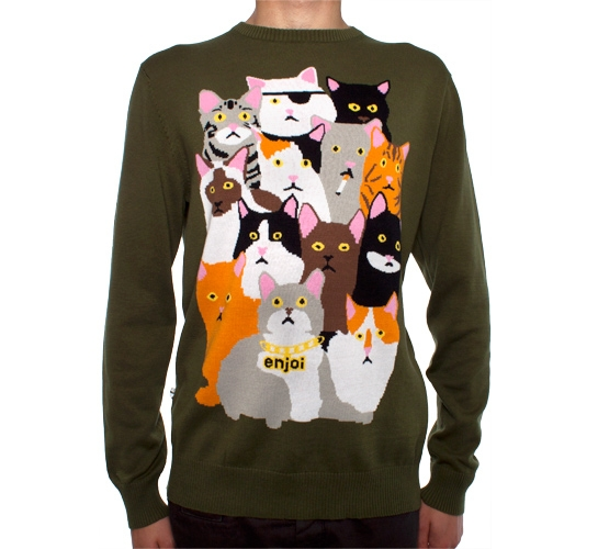 Enjoi Itty Bitty Kitty Sweater (Army)