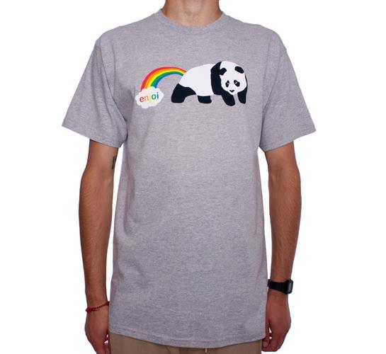 Enjoi Rainbow Fart T-Shirt (Grey Heather)