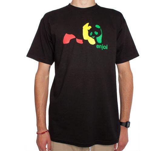Enjoi Rasta Panda T-Shirt (Black)