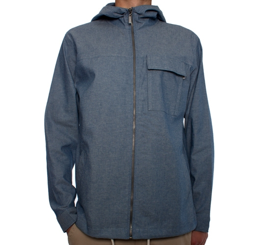 Enjoi Shat Kit L/S Zip Woven Hooded Overshirt (Blue)
