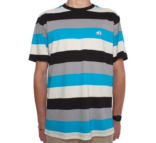 Enjoi Skid Marks Custom T-Shirt (Cyan)