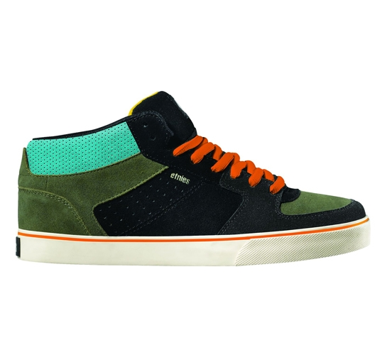 Etnies Recognition Skate Shoes - Faction Mid (Black)