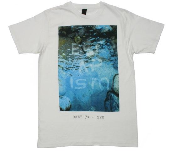 Obey Men's T-Shirt - Escapism (White)