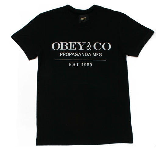 Obey Men's T-Shirt - Obey & Co. (Black)