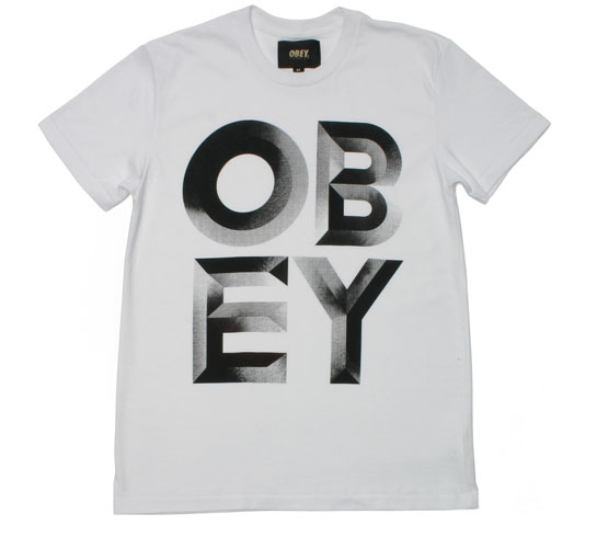 Obey Men's T-Shirt - Brutal World (White)