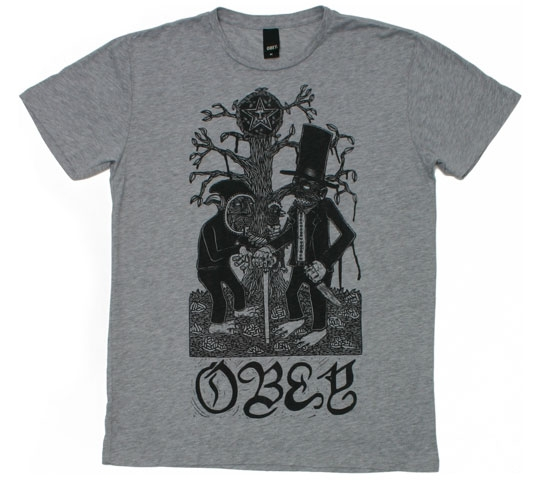 Obey Men's T-Shirt - Obey Stinkin' Lincoln (Heather)