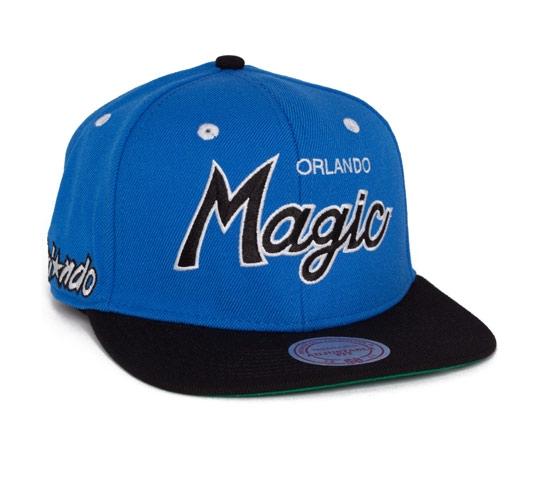 Mitchell & Ness Orlando Magic Vintage Script Snapback Cap (Blue/Black)