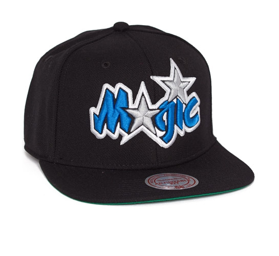 Mitchell & Ness Orlando Magic Snapback Cap (Black)