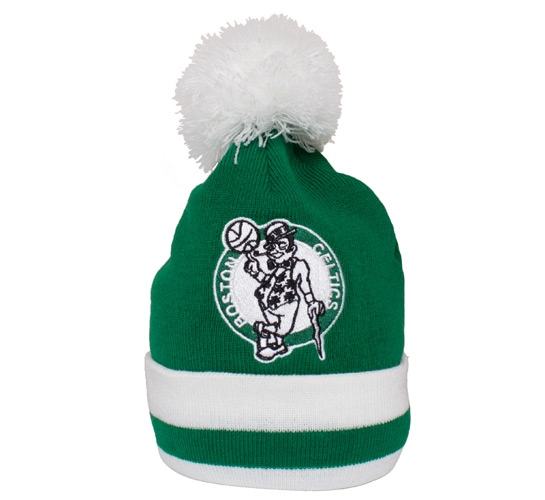 Mitchell & Ness Boston Celtics Striped Cuff Beanie (Green/White)