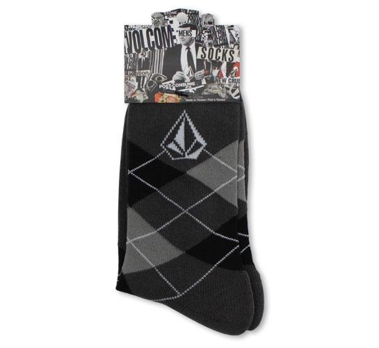Volcom Men's Socks - Argyle (Dark Grey)