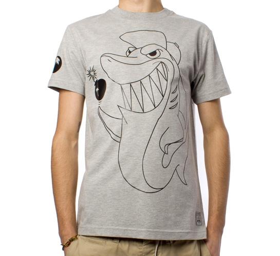 Trainerspotter Shark T-Shirt (Grey Marle)